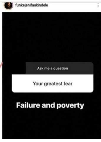 Im Afraid Of Failure And Poverty Funke Akindele Gistreel
