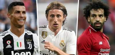Messi Loses Out as Ronaldo, Modric & Salah nominated for FIFA Men's Player of the Year award