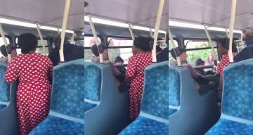 Nigerian woman fights white lady over seat in London (Video)