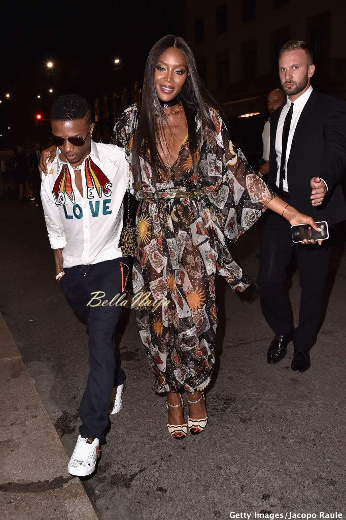 Wiz Kid Naomi Campbell And Tinie Tempah Attend Dolce Gabbana BellaNaija 2018 14