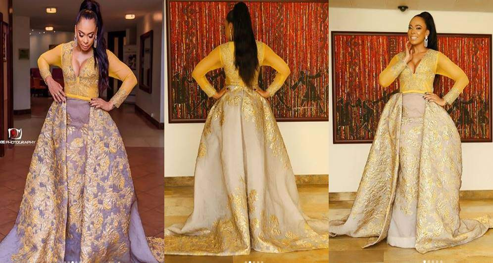 TBoss reacts after being tagged among the worst dressed at the 2018 AMVCA