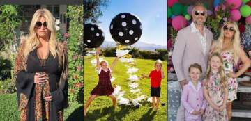 Jessica Simpson shares photos of her kids to announce her pregnancy