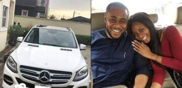 Powede receives an SUV from husband as first wedding anniversary gift