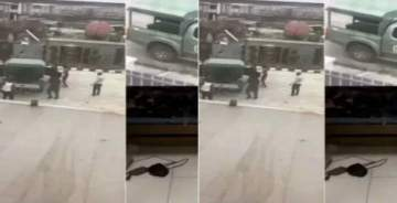 Houseboy Sacked For Stealing Mobilizes Soldiers To Beat Boss In Lagos