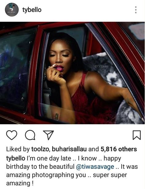 Ty Bello Releases Beautiful New Photos Of Tiwa Savage Lailasnews 4