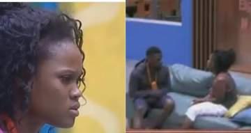 #BBNaija: Cee C breaks down in tears as Tobi finally walks away despite her apology (Videos)