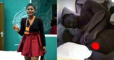 BBNaija 2018: Alex flashes n**pple in bed with Leo (Photos)