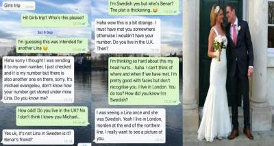 Couple who met after mistaken WhatsApp message end up getting married (Screenshots)