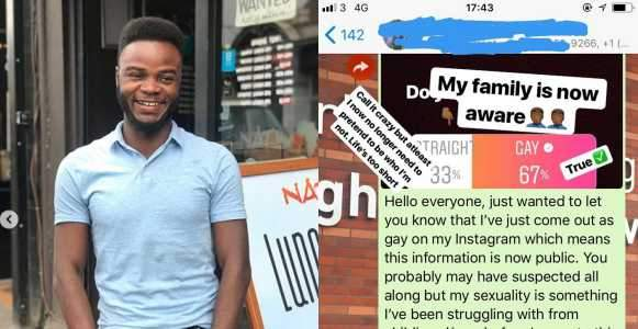 Nigerian first black Student Union president of Bournemouth University, U.K, comes out as gay