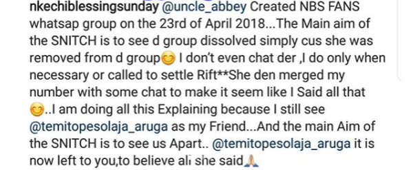 Nkechi Blessing Finally Reacts After Being Called Out By Temitope Solaja 2