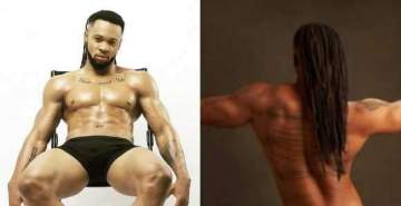 Flavour strips, showing off hot body in new fierce photo