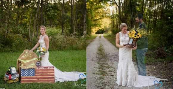 Grieving Bride Wears Wedding Dress To Fianc%C3%A9%E2%80%99s Grave On Wedding Day Photos