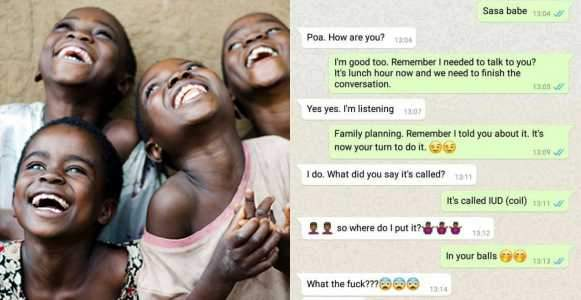 Hilarious Whatsapp Conversation Between A Nigerian Woman And Her Husband After She Suggested He Goes For Family Planning