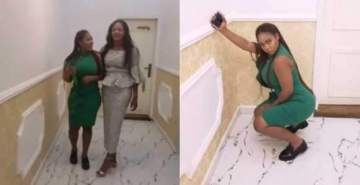 Kid sister of Ooni's new wife slays and twerks up a storm in the palace (Video)