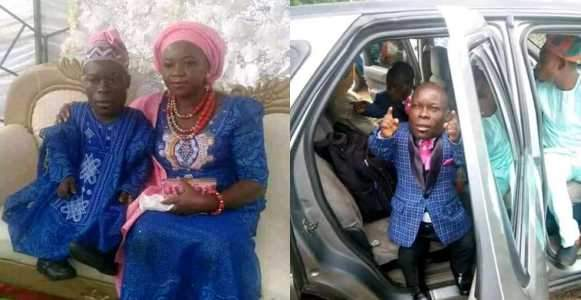 Trending Photos Of Nigerian Dwarf Who Got Married To His Heartthrob