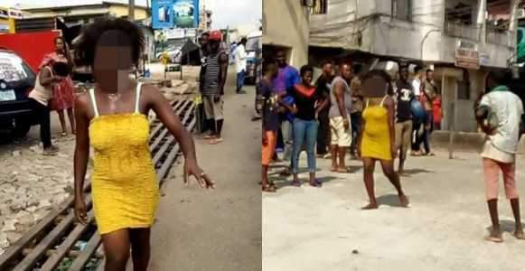Young Lady Runs Mad After Allegedly Sleeping With A Married Man Photos