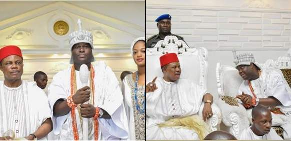 Governor Willie Obiano Visits Ooni Of Ife And His New Queen(Photos)