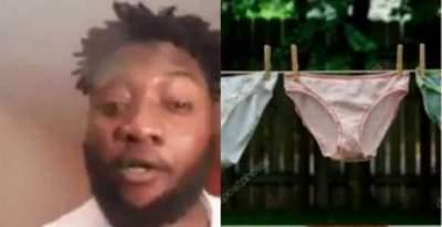 'Ladies be careful, boys are now selling used panties for N200K' - Nigerian man, raises alarm