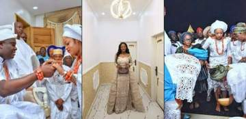 More photos as the Ooni of Ife welcomes his new queen to his palace