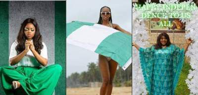 Celebrities Share Captivating Photoshoots To Celebrate Nigeria 58th Independence