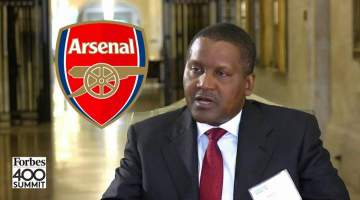 'I'll buy another club if Arsenal won't be sold to me' - Dangote