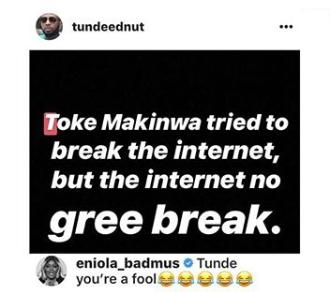 Eniola Badmus And A Toke Makinwa Fan Fight Dirty Over Bikini Photos Lailasnews 1