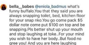 Eniola Badmus And A Toke Makinwa Fan Fight Dirty Over Bikini Photos Lailasnews 2