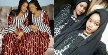 Photos Of Excited Zamfara Twin Sisters After Being Released By Kidnappers A Month To Their Wedding