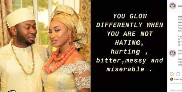 You glow differently when you're not hating - Churchill shades Tonto Dikeh?
