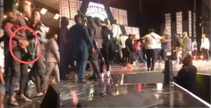 Stonebwoy Pulls Out A Gun As Shatta Wale Attacks Him On Stage Video
