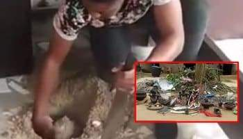 Furniture Maker Gets Caught While Trying To Bury Charm In His Shop In Rivers State