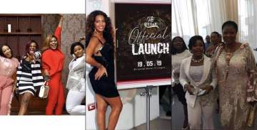 Former housemates, Celebs, Okorochas' son and fans storm CeeC's sport wear launch in style (Photos)