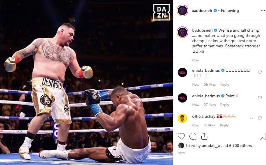 Nigerian Celebrities React To Anthony Joshuas Defeat To Andy Ruiz Unclesuru 2 Tile