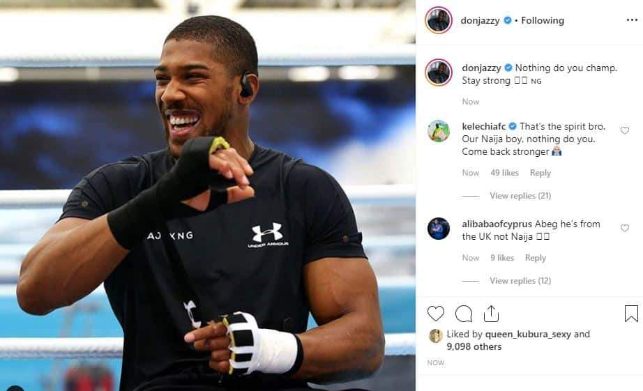 Nigerian Celebrities React To Anthony Joshuas Defeat To Andy Ruiz Unclesuru 3 Tile