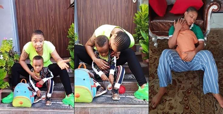 'DIE BASTARD DIE FOOL'- Tonto Dikeh curse troll who called her son a 'product of 40 seconds'