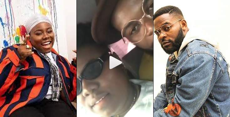 'I have so much feelings for you'- Singer Falz tells Teni as he kisses her, other celebs react (Video)