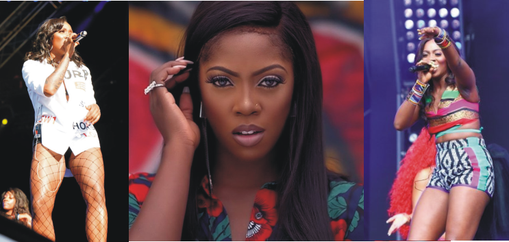 Tiwa Savage Embarrassed as She Suffered Technical Problem on Stage