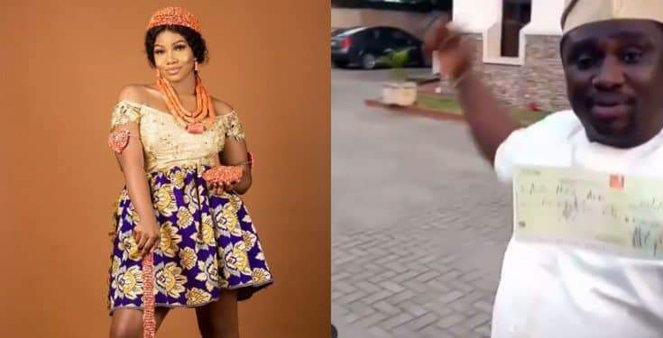 Nigerian Man Offers Tacha %E2%82%A65 Million Cheque Video