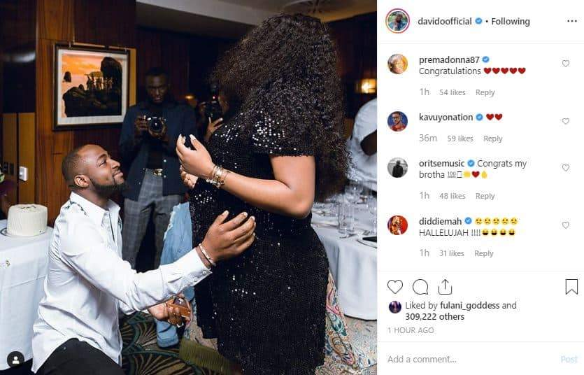 Davido Finally Confirms He Is Expecting A Child With Chioma