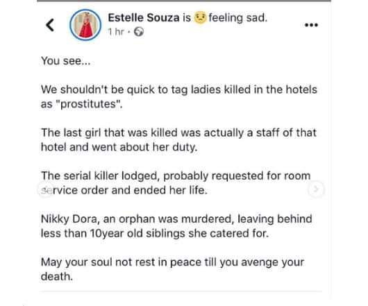 She Was Not A Prostitute Sister Of Latest Victim Of Port Harcourt Serial Killer Cries Out 3