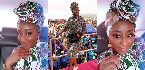 2019 elections: Ini Edo shows love and  support for PDP in stunning photos
