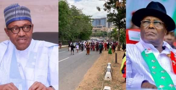 Atiku Vs Buhari Two Million Women Storm Abuja Beg Atiku To Concede Defeat