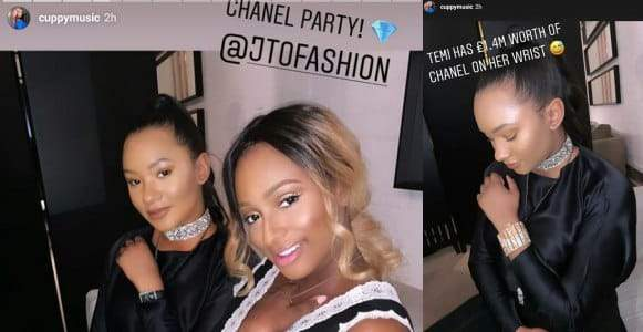 Temi Otedola Wears %C2%A31.4 Million Worth Of Chanel On Her Wrist At A Party In London