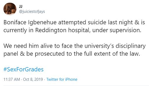 UNILAG Lectirer Boniface Attamots Suicide