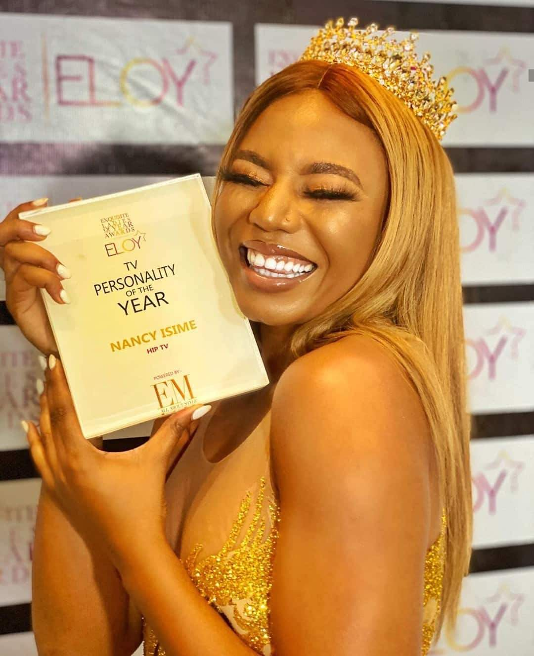 Eloy Awards: Nancy Isime bags TV personality of the year award