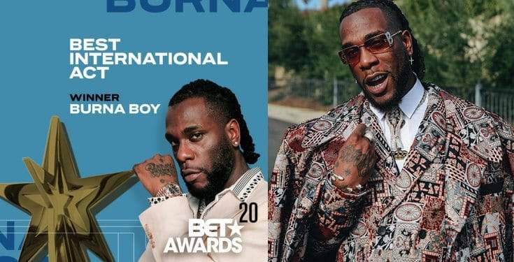 Burna Boy Wins Best International Act Video