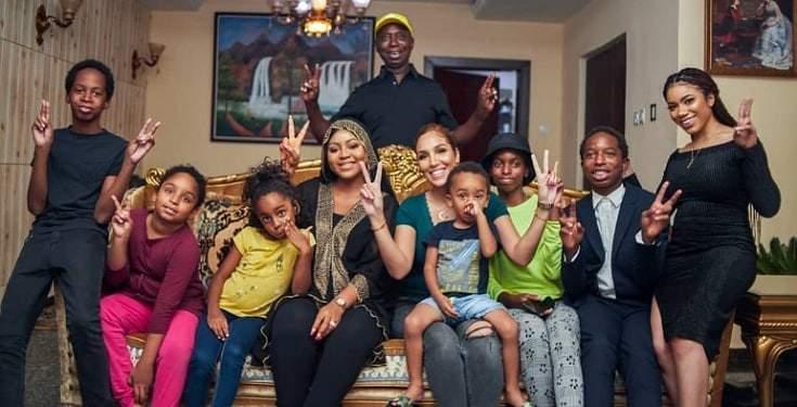 Regina Daniel's Hubby, Ned Nwoko Exhibits Off His Higher halves And Children (Photography)