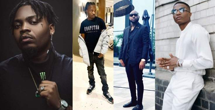 Wizkid Olamide And Naira Marley Unfollow Davido On Instagram