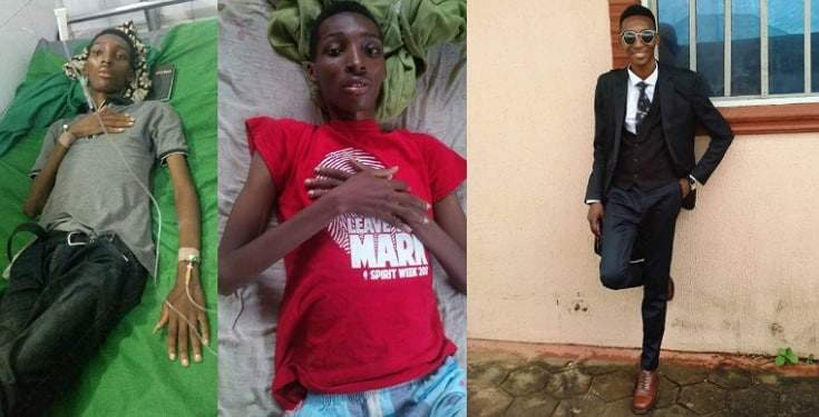 Three years after Nigerians donated money to help him beat cancer, man bags degree in Law school (Photos)