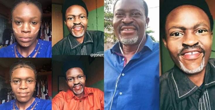Make-up Artist Transforms Her Face To Look Like Kanayo O Kanayo's Face (Photos)